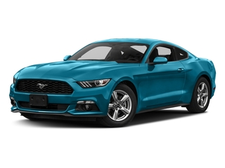 Lightning Blue Metallic 2017 Ford Mustang Pictures Mustang Coupe 2D EcoBoost I4 Turbo photos front view