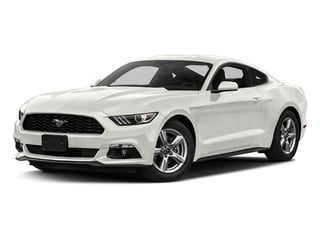 White Platinum Metallic Tri-Coat 2017 Ford Mustang Pictures Mustang Coupe 2D EcoBoost I4 Turbo photos front view
