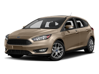 White Gold Metallic 2017 Ford Focus Pictures Focus Hatchback 5D SE I4 photos front view