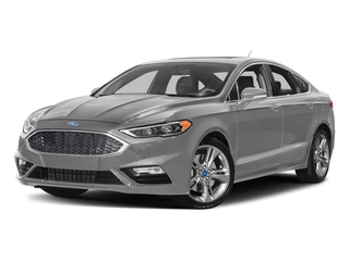 Ingot Silver 2017 Ford Fusion Pictures Fusion Sedan 4D Sport EcoBoost V4 Turbo photos front view