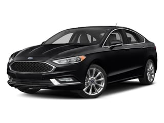 Shadow Black 2017 Ford Fusion Pictures Fusion Sedan 4D Platinum AWD I4 Turbo photos front view