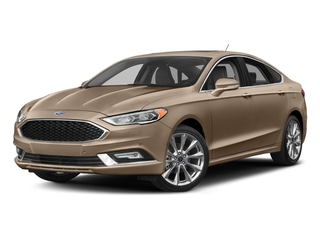White Gold 2017 Ford Fusion Pictures Fusion Sedan 4D Platinum AWD I4 Turbo photos front view
