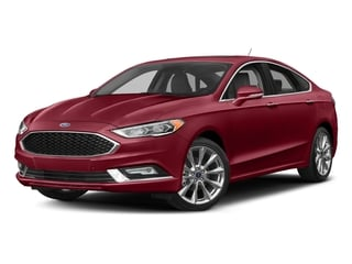 Ruby Red Metallic Tinted Clearcoat 2017 Ford Fusion Pictures Fusion Sedan 4D Platinum AWD I4 Turbo photos front view