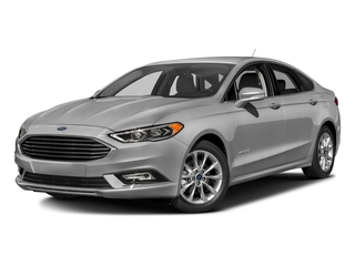 Ingot Silver 2017 Ford Fusion Pictures Fusion Sedan 4D SE I4 Hybrid photos front view
