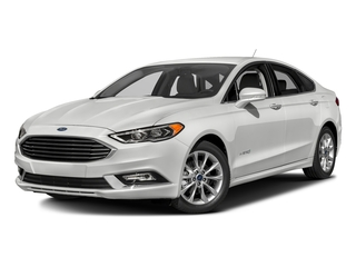Oxford White 2017 Ford Fusion Pictures Fusion Sedan 4D SE I4 Hybrid photos front view