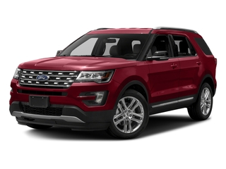 Ruby Red Metallic Tinted Clearcoat 2017 Ford Explorer Pictures Explorer Utility 4D XLT 4WD V6 photos front view
