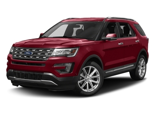 Ruby Red Metallic Tinted Clearcoat 2017 Ford Explorer Pictures Explorer Utility 4D Limited 4WD V6 photos front view