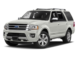 White Platinum Metallic Tri-Coat 2017 Ford Expedition Pictures Expedition Utility 4D Platinum 2WD V6 Turbo photos front view
