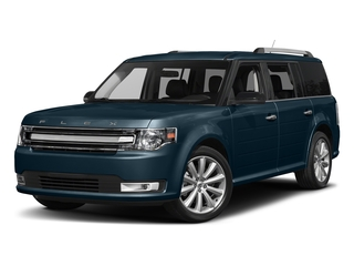 Blue Jeans Metallic 2017 Ford Flex Pictures Flex Wagon 4D Limited AWD photos front view