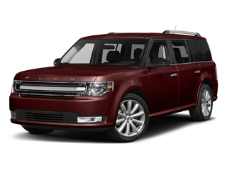 Burgundy Velvet Tinted Clearcoat 2017 Ford Flex Pictures Flex Wagon 4D Limited AWD photos front view
