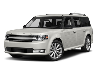 White Platinum Metallic Tri-Coat 2017 Ford Flex Pictures Flex Wagon 4D Limited AWD photos front view