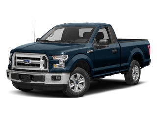 Blue Jeans Metallic 2017 Ford F-150 Pictures F-150 Regular Cab XLT 4WD photos front view