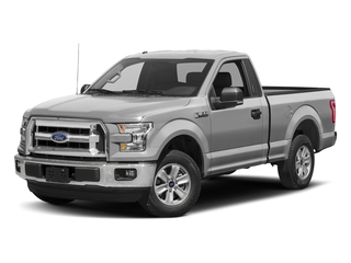 Ingot Silver Metallic 2017 Ford F-150 Pictures F-150 Regular Cab XLT 4WD photos front view