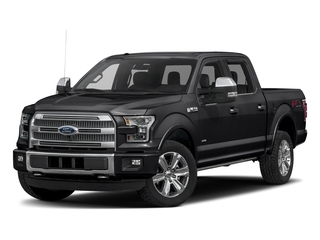 Shadow Black 2017 Ford F-150 Pictures F-150 Crew Cab Platinum 2WD photos front view