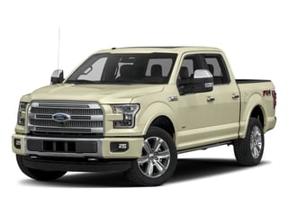 White Gold 2017 Ford F-150 Pictures F-150 Crew Cab Platinum 2WD photos front view