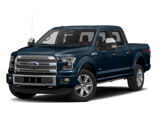 Blue Jeans Metallic 2017 Ford F-150 Pictures F-150 Crew Cab Platinum 2WD photos front view