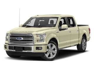 White Gold 2017 Ford F-150 Pictures F-150 Crew Cab Limited EcoBoost 2WD photos front view