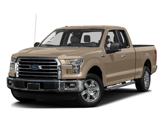 White Gold 2017 Ford F-150 Pictures F-150 Supercab XLT 4WD photos front view