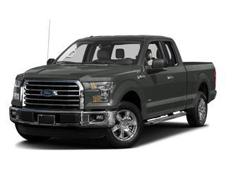 Magnetic Metallic 2017 Ford F-150 Pictures F-150 Supercab XLT 4WD photos front view