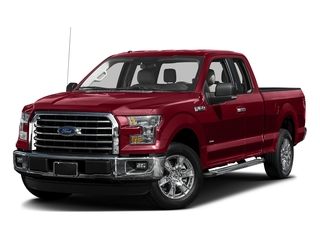 Ruby Red Metallic Tinted Clearcoat 2017 Ford F-150 Pictures F-150 Supercab XLT 4WD photos front view