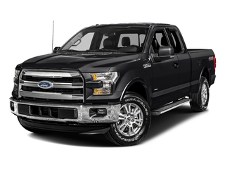 Shadow Black 2017 Ford F-150 Pictures F-150 Supercab Lariat 2WD photos front view