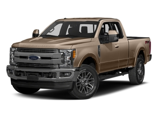 White Gold Metallic 2017 Ford Super Duty F-350 SRW Pictures Super Duty F-350 SRW Supercab Lariat 2WD photos front view