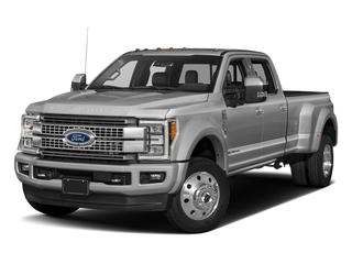 Ingot Silver Metallic 2017 Ford Super Duty F-450 DRW Pictures Super Duty F-450 DRW Crew Cab Platinum 4WD T-Diesel photos front view