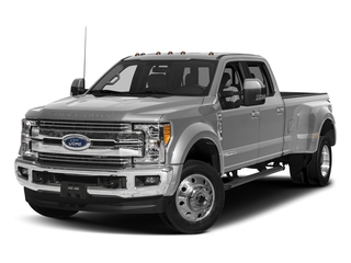 Ingot Silver Metallic 2017 Ford Super Duty F-450 DRW Pictures Super Duty F-450 DRW Crew Cab Lariat 4WD T-Diesel photos front view
