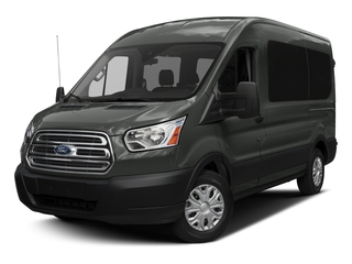 Magnetic Metallic 2017 Ford Transit Wagon Pictures Transit Wagon Passenger Van XLT Medium Roof photos front view