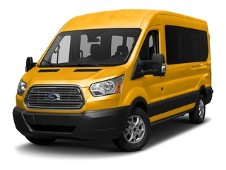 School Bus Yellow 2017 Ford Transit Wagon Pictures Transit Wagon Passenger Van XL Medium Roof photos front view