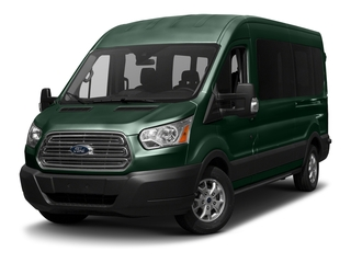 Green Gem Metallic 2017 Ford Transit Wagon Pictures Transit Wagon Passenger Van XL Medium Roof photos front view