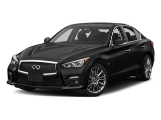 Midnight Black 2017 INFINITI Q50 Pictures Q50 3.0t Sport AWD photos front view