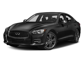 Black Obsidian 2017 INFINITI Q50 Hybrid Pictures Q50 Hybrid Sedan 4D AWD V6 Hybrid photos front view