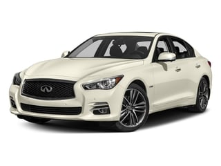 Majestic White 2017 INFINITI Q50 Hybrid Pictures Q50 Hybrid Sedan 4D AWD V6 Hybrid photos front view