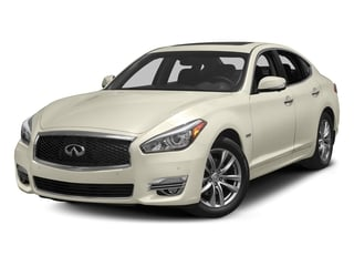 Majestic White 2017 INFINITI Q70 Hybrid Pictures Q70 Hybrid RWD photos front view