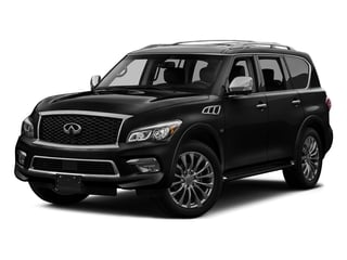 Black Obsidian 2017 INFINITI QX80 Pictures QX80 AWD photos front view