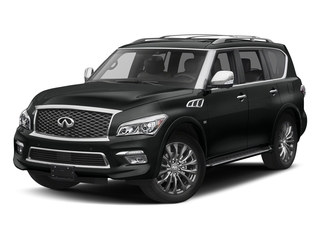 Imperial Black 2017 INFINITI QX80 Pictures QX80 Utility 4D Limited AWD V8 photos front view