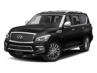 Black Obsidian 2017 INFINITI QX80 Pictures QX80 Utility 4D Limited AWD V8 photos front view