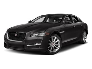 Ultimate Black Metallic 2017 Jaguar XJ Pictures XJ Sedan 4D V8 Supercharged photos front view