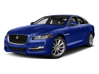 Caesium Blue Metallic 2017 Jaguar XJ Pictures XJ Sedan 4D R-Sport AWD V6 Supercharged photos front view