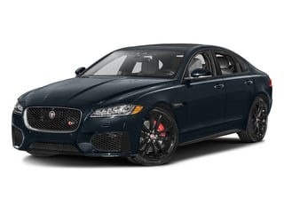 Dark Sapphire Metallic 2017 Jaguar XF Pictures XF Sedan 4D 35t AWD V6 photos front view