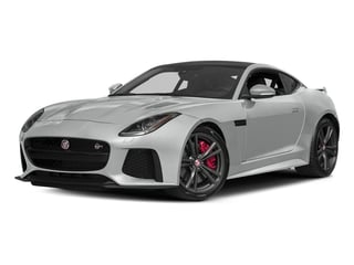 Rhodium Silver Metallic 2017 Jaguar F-TYPE Pictures F-TYPE Coupe Auto SVR AWD photos front view