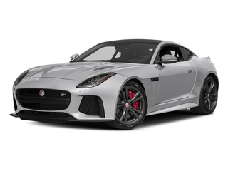 Glacier White Metallic 2017 Jaguar F-TYPE Pictures F-TYPE Coupe 2D SVR AWD V8 photos front view