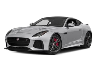 Glacier White Metallic 2017 Jaguar F-TYPE Pictures F-TYPE Coupe Auto SVR AWD photos front view