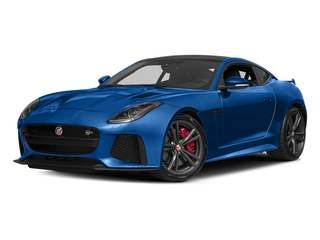 Ultra Blue Metallic 2017 Jaguar F-TYPE Pictures F-TYPE Coupe Auto SVR AWD photos front view