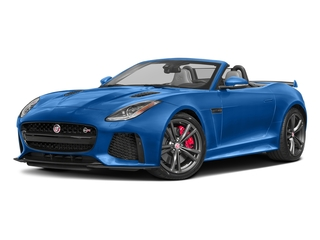 Ultra Blue Metallic 2017 Jaguar F-TYPE Pictures F-TYPE Convertible 2D SVR AWD V8 photos front view