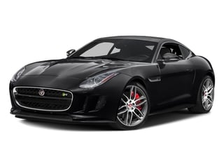 Ebony Black 2017 Jaguar F-TYPE Pictures F-TYPE Coupe 2D R AWD V8 photos front view