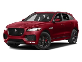 Italian Racing Red Metallic 2017 Jaguar F-PACE Pictures F-PACE Utility 4D S AWD V6 photos front view