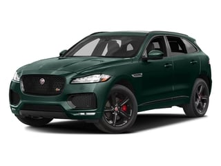 British Racing Green Metallic 2017 Jaguar F-PACE Pictures F-PACE Utility 4D S AWD V6 photos front view