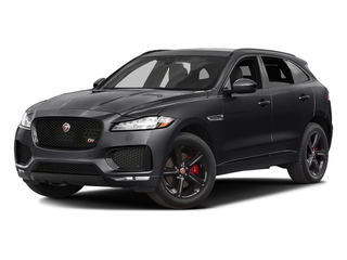 Ebony 2017 Jaguar F-PACE Pictures F-PACE Utility 4D S AWD V6 photos front view